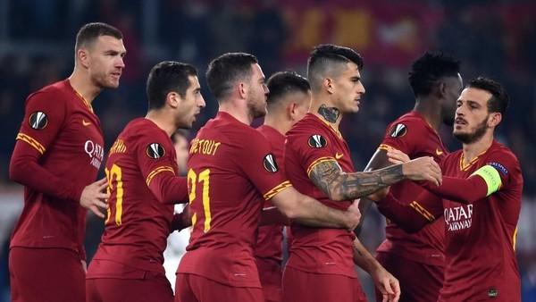 Ket Foto : AS Roma ditunggu laga derby melawan Lazio di lanjutan Liga Italia (MONTEFORTE / AFP)