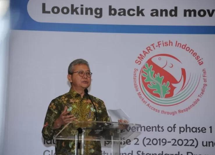 Ket Foto : Plt. Dirjen Pengawasan Sumber Daya Kelautan dan Perikanan, Nilanto Perbowo. (ANTARA/HO-KKP)
