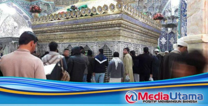 Ket Foto : Kompleks pemakaman Masoumeh di Qom, kota terbesar kedelapan di Iran. Qom adalah pusat penyebaran virus Corona di Iran. (Twitter/Radio Farda)