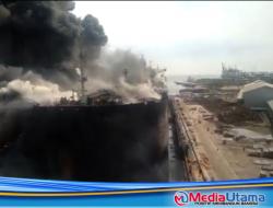 12 Pekerja Terluka dalam Kebakaran Kapal Tanker di Belawan