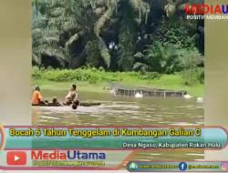 Bocah 6 Tahun Tewas Tenggelam di Kubangan Galian C di Desa Ngaso Rohul