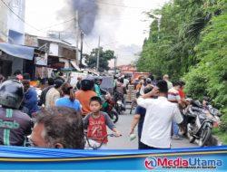 Pasar Meranti Terbakar, Pedagang dan Warga Sekitar Panik Berhamburan
