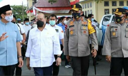 Ket Foto : Kapolda Sumut Dampingi Ketua DPD RI Berkunjung ke SPN Hinai.