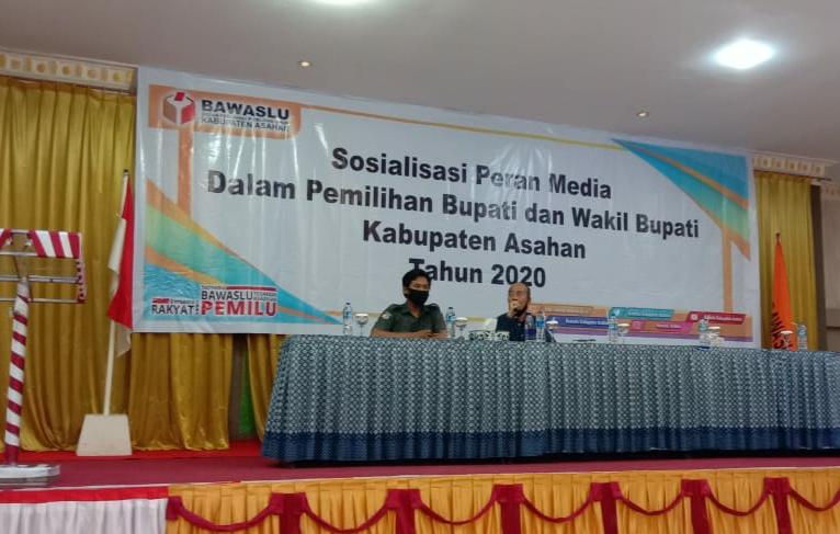 Ket Foto : Bawaslu Asahan Gelar Sosialisasi Peran Media dalam Pilkada Serentak Tahun 2020.