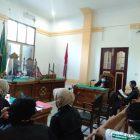 Ket Foto : Sidang tuntut kasus sabu 81 gram digelar secara video conference di ruang Cakra 3 Pengadilan Negeri Medan.