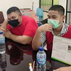 Ket Foto : Dua Tersangka Kasus Narkotika yang diserahkan BNN Pusat ke Kejari Medan.