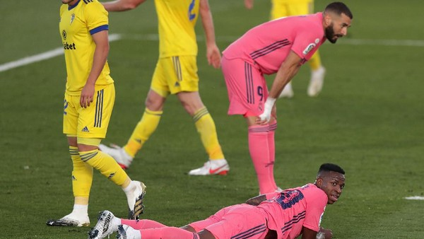 Ket Foto : Real Madrid tumbang di kandang melawan tim promosi LaLiga, Cadiz. (Getty Images/Gonzalo Arroyo Moreno)