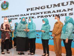 TP PKK Kota Medan Menerima Sejumlah Penghargaan Dalam Lomba PKK Tingkat Sumut