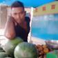 Ket Foto : Seorang pria didalam video. (Screenshot video akun Facebook Yanti Limbong).