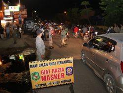 Sebanyak 72 Warga Terjaring Razia Masker di Kecamatan Medan Marelan