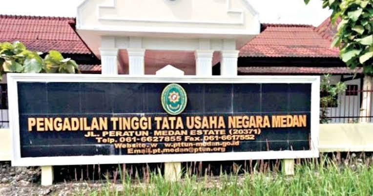 Ket Foto : Pengadilan Tinggi Tata Usaha Negara Medan. (INT)